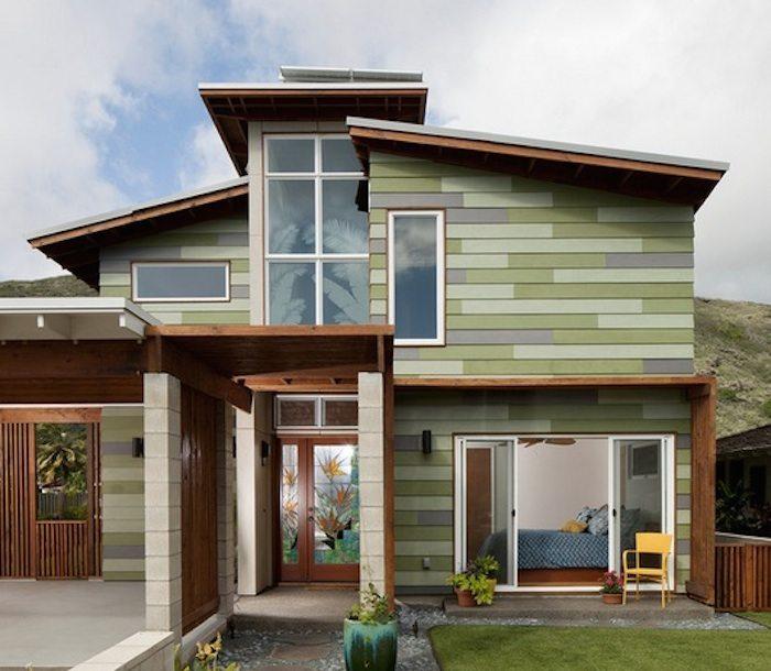 Полипропиленовые фасадные панели выглядят очень аккуратно