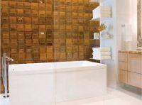Плитку с объемным рельефом стоит использовать для помещений среднего или большого размера