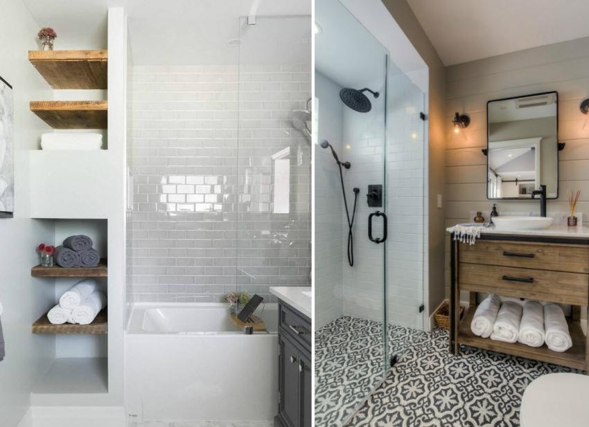Трехмерный проект ванной комнаты с использованием красной и белой керамический плитки