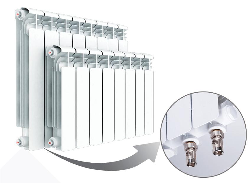 Система отопления с нижним подключением к радиатору выглядит более эстетично, так как трубы будут менее заметны