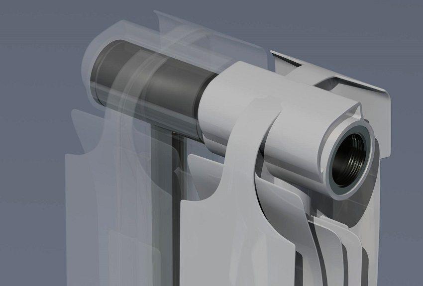 Биметаллические радиаторы тяжелее алюминиевых, так как имеют стальную вставку