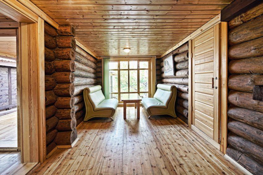 Комната для отдыха в бане, место где проводится наибольшее количество времени