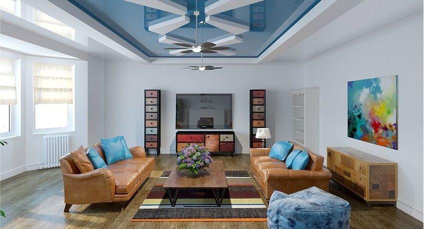 Разновидности двухуровневых потолков | Натяжные потолки BESTHOUSE | 460x850