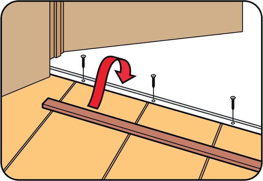 Оформление стыка между двумя покрытиями в дверном проеме