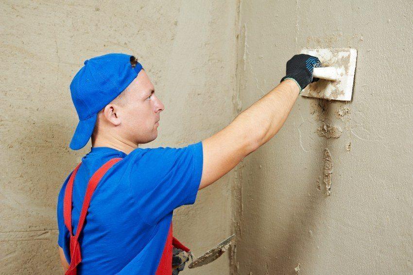 Стартовые шпатлевки используются для первичного (чернового) шпаклевания стен