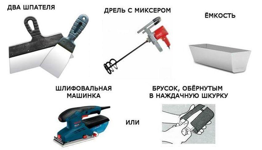 Инструменты, которые вам понадобятся для шпаклевания стен своими руками
