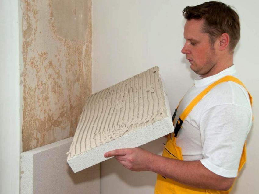 Шумоизоляция стены пенополистирольными плитами
