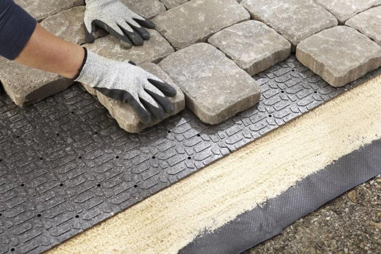 Укладка тротуарной камень своими руками 714