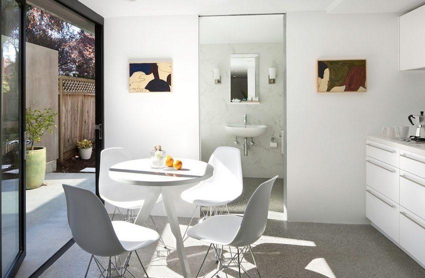 Декоративный наливной пол на кухне
