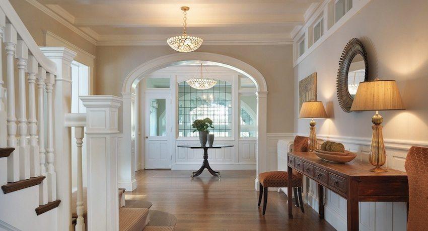 Арка из гипсокартона прекрасно выглядит в интерьере в стиле модерн