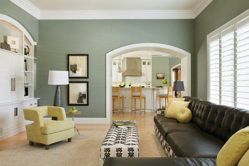 Проем и ниша в виде арки в гостиной