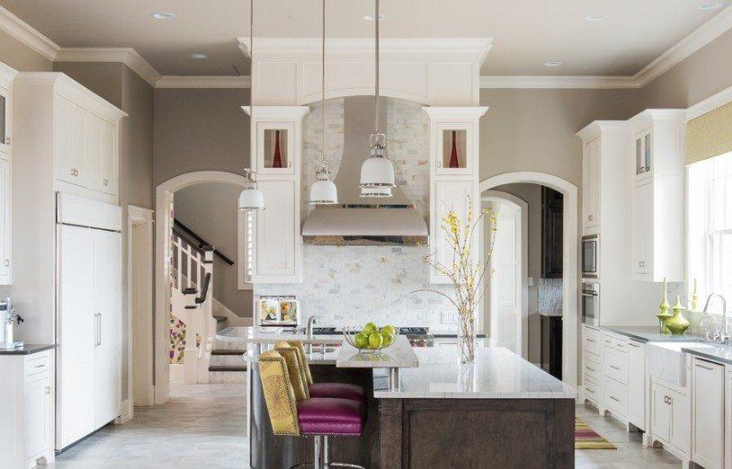 Два симметричных арочных проема на кухне