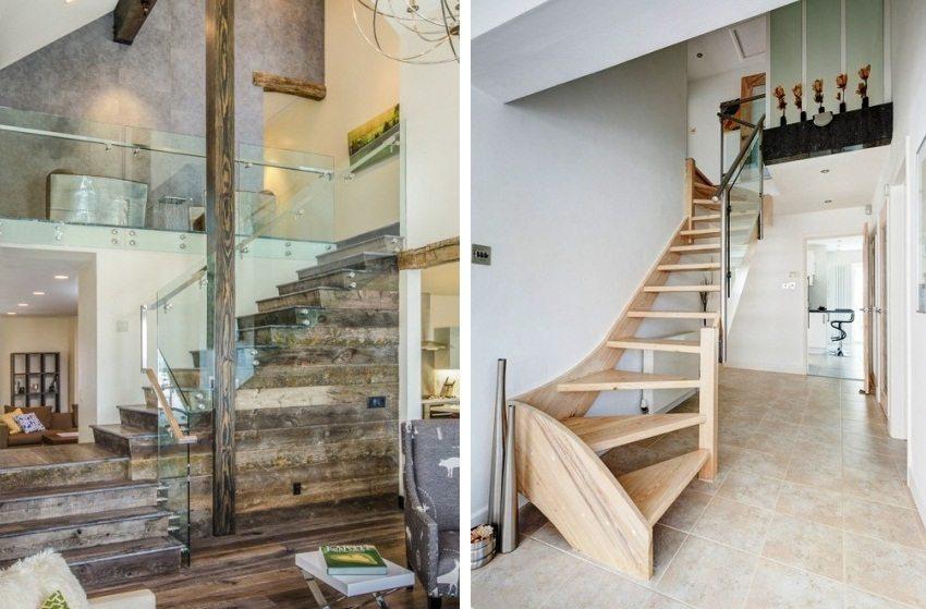 Примеры Г-образных лестниц