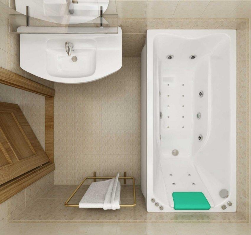 Маленькая комната - не повод отказываться от ванны с гидромассажем