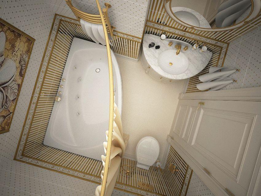В стеновой нише можно разместить умывальник с зеркалом