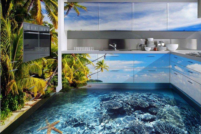 Наливной пол с объемным 3D-рисунком