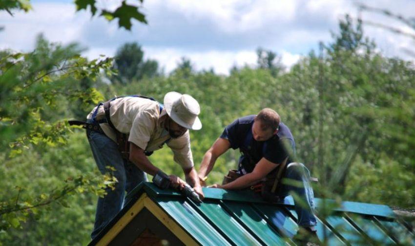 Монтаж металлической крыши