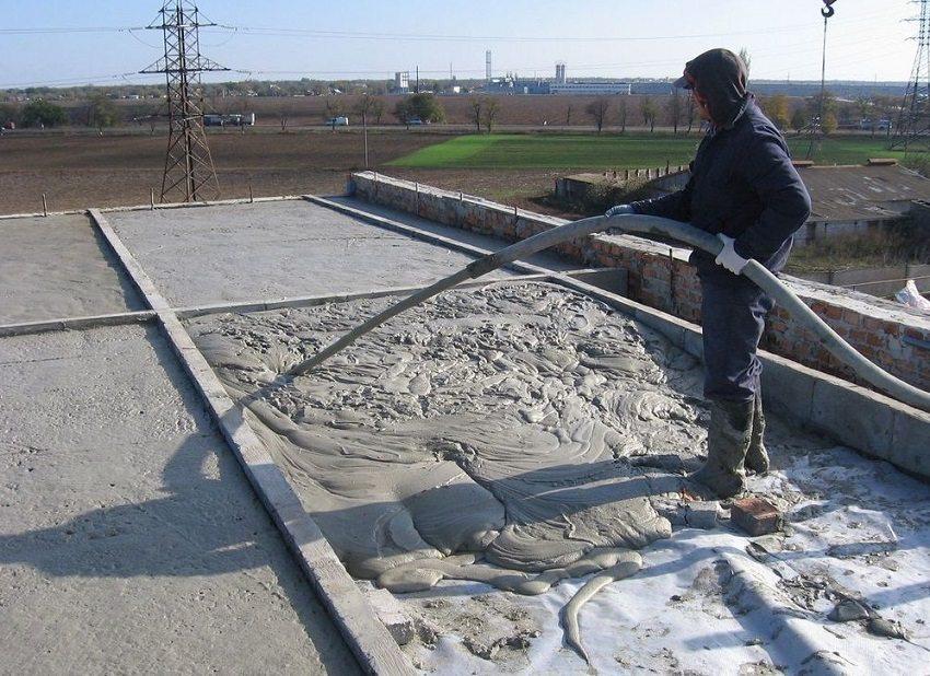Утепление крыши наливным пенобетоном