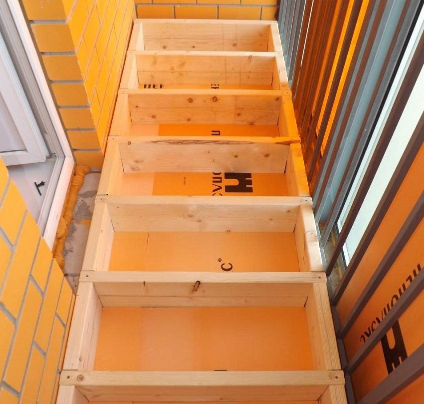 Утепление балкона с применением пеноплекса