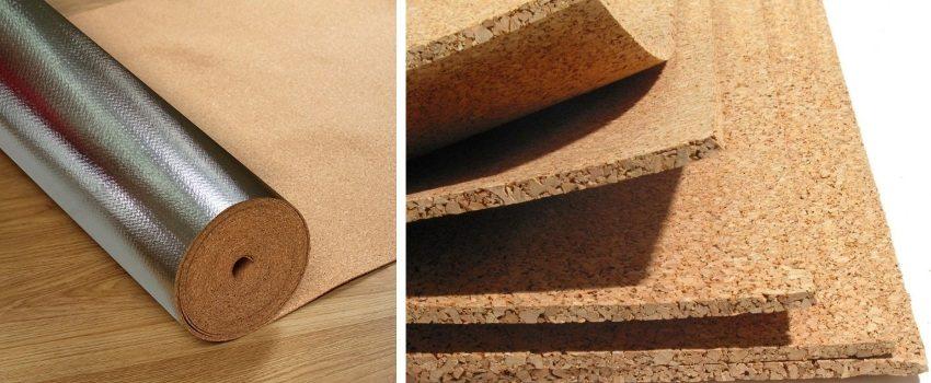 Пробковая подложка бывает листовой и рулонной. Последняя также доступна с фольгированным слоем