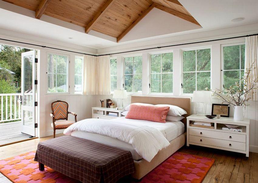 Дерево и гипсокартон в отделке потолка