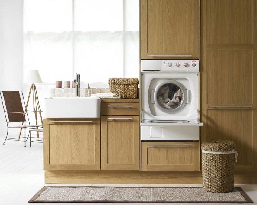 Установить стиральную машину можно в любом месте квартиры