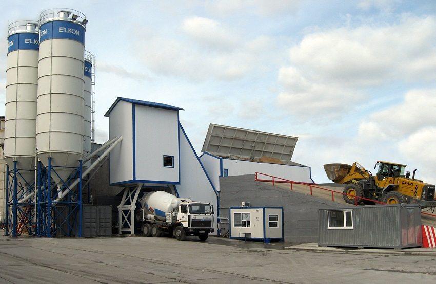 Стационарный завод по изготовлению бетона