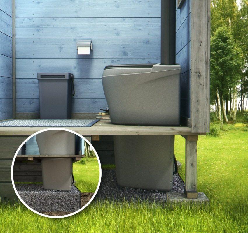 Пример обустройства основания для торфяного туалета