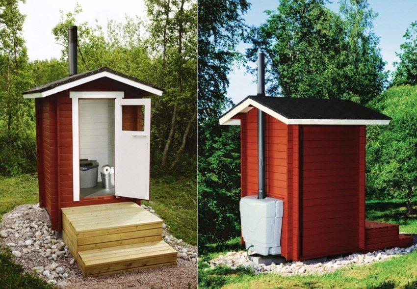 Пример расположения торфяного туалета на дачном участке
