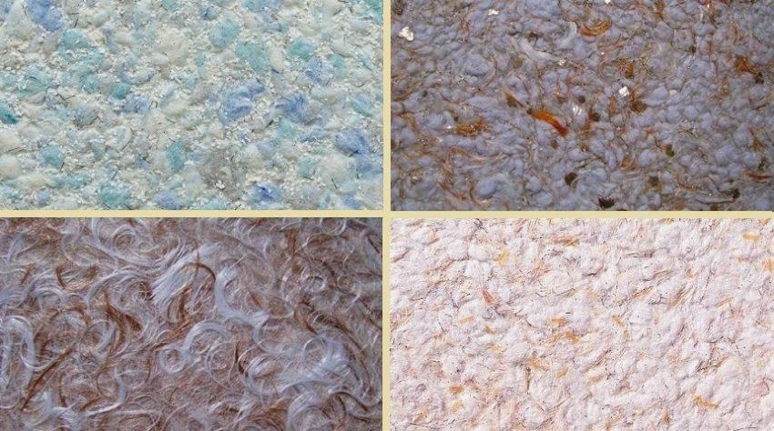 Примеры текстур жидких обоев