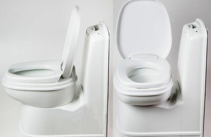 Компактность торфяного биотуалета позволяет устанавливать его как в просторных, так и в небольших помещениях