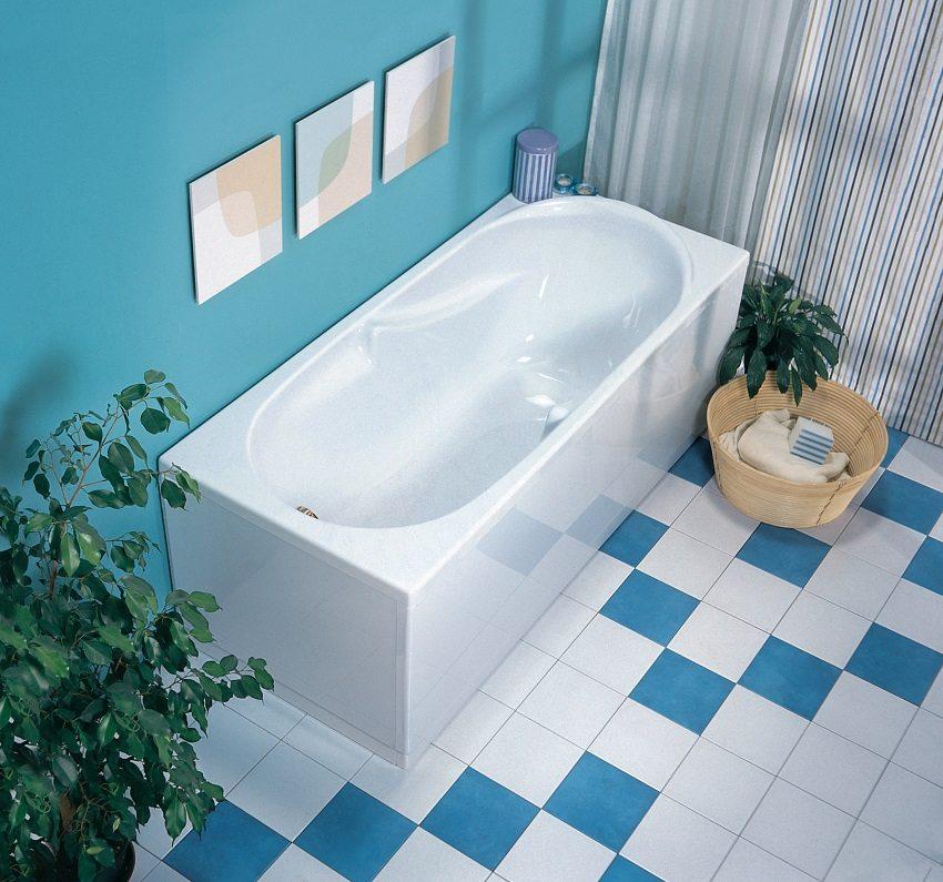 Ванна, обновлённая акриловым вкладышем, выглядит очень стильно