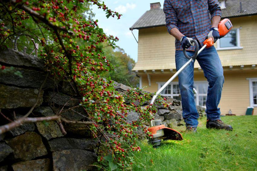 Стрижка с помощью газонокосилки