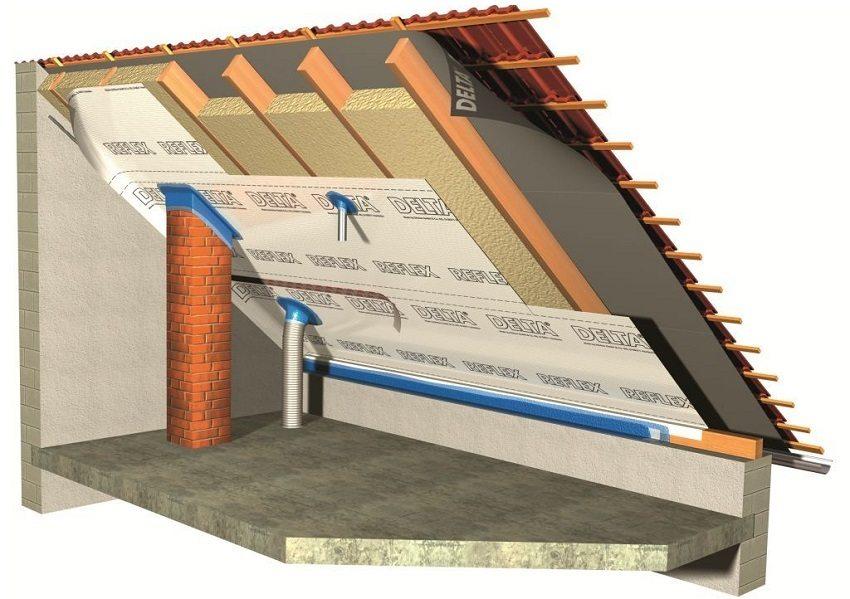 ледует позаботиться о герметичности швов возле точек выхода коммуникаций на крышу и на стыке листов пароизоляции