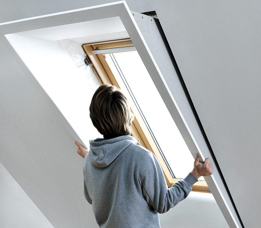 Готовый пластиковый откос для окна