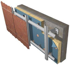 Пример обустройства вентилируемого фасада с применением пенопласта