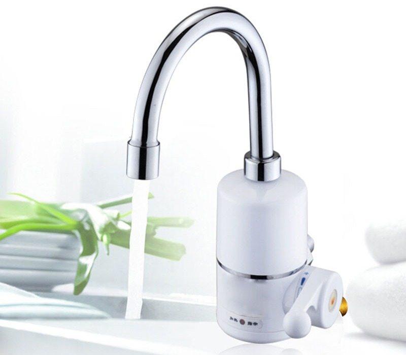 Проточный электрический водонагреватель на кран очень прост в установке