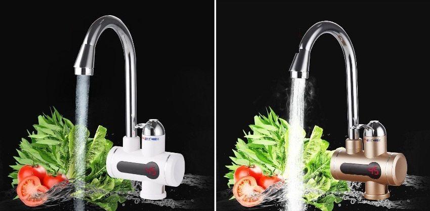 Цвет и дизайн водонагревателя можно выбрать под общий стиль кухни