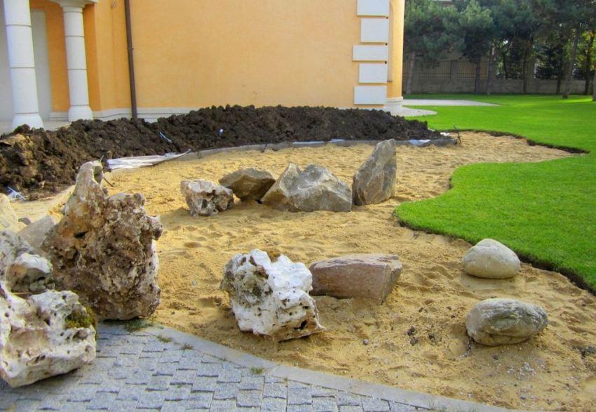 Шаг 2: размещение камней