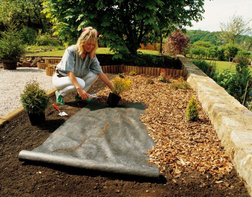 Применение геотекстиля в садоводстве