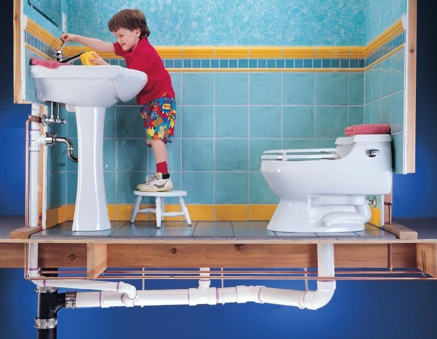 Пример подключения сантехнических приборов к канализации