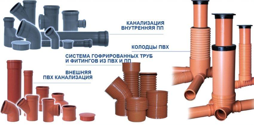 Виды труб, используемые для монтажа внешней и внутренней канализации частного дома