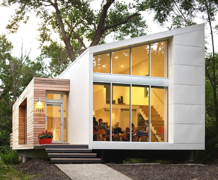 Облицовка дома композитными материалом