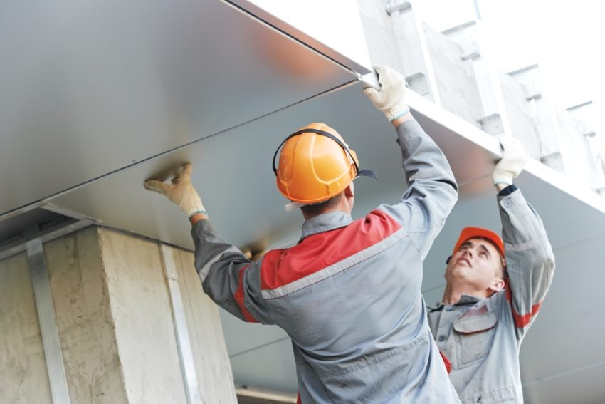 Монтаж алюминиевых панелей