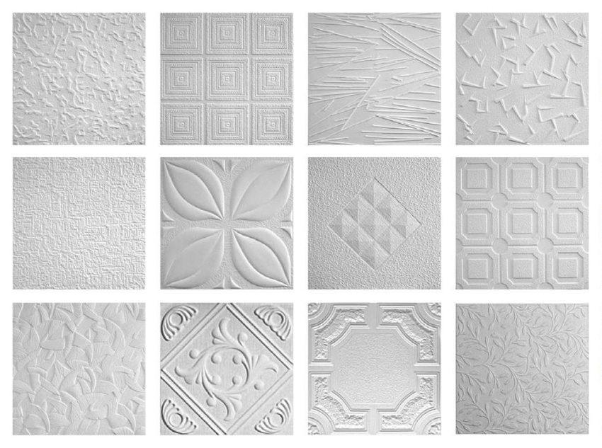 Примеры дизайна потолочных плиток