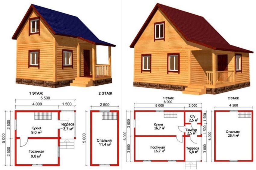 Примеры проектов дачных домиков