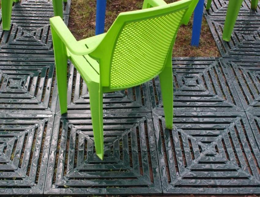 Садовые дорожки из пластиковых плиток