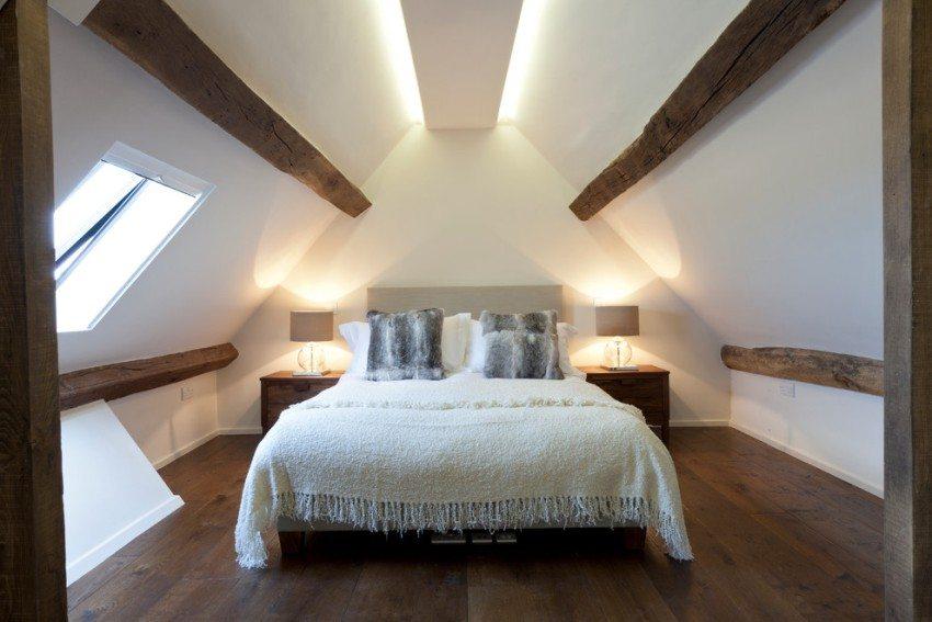 Пример подсветки потолка в спальне