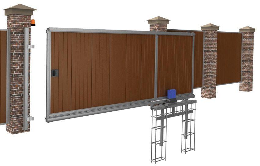 3D-эскиз консольных ворот