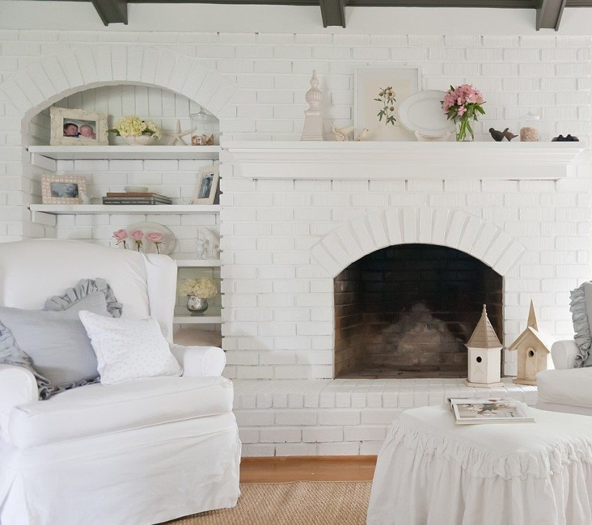 Использование белого кирпича для декоративной отделки стен